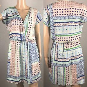 Bar III patterned dress sz L